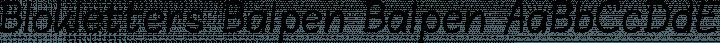 Blokletters Balpen Balpen free font