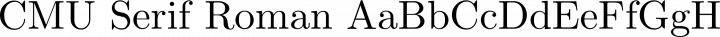 CMU Serif Roman free font