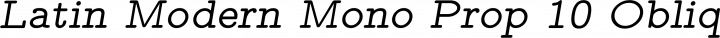 Latin Modern Mono Prop 10 Oblique free font