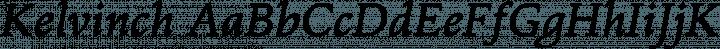 Kelvinch font family by Paul Miller