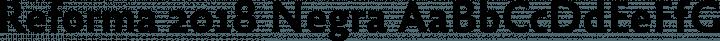Reforma 2018 Negra free font
