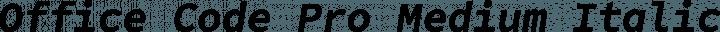 Office Code Pro Medium Italic free font