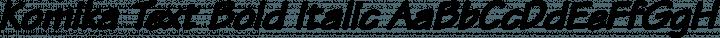 Komika Text Bold Italic free font