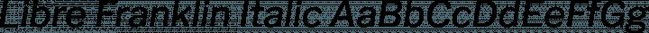 Libre Franklin Italic free font
