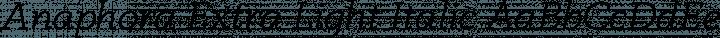 Anaphora Extra Light Italic free font