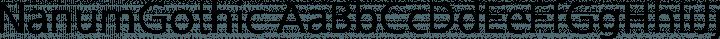 NanumGothic Regular free font