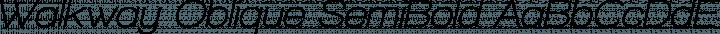 Walkway Oblique SemiBold Regular free font