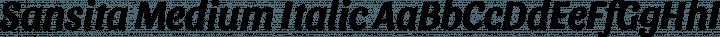 Sansita Medium Italic free font