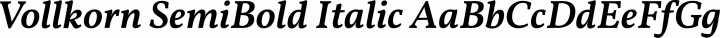 Vollkorn SemiBold Italic free font