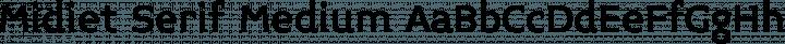 Midiet Serif Medium free font
