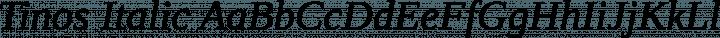 Tinos Italic free font