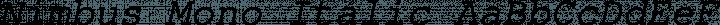 Nimbus Mono Italic free font
