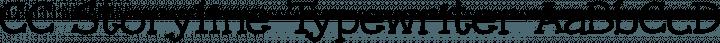 CC Storyline Typewriter free font