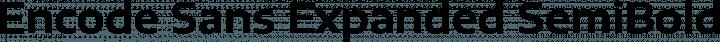 Encode Sans Expanded SemiBold free font