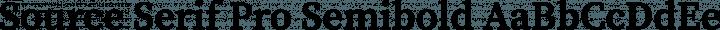Source Serif Pro Semibold free font