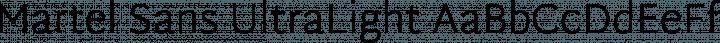 Martel Sans UltraLight free font