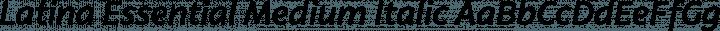 Latina Essential Medium Italic free font