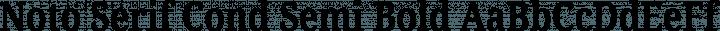 Noto Serif Cond Semi Bold free font