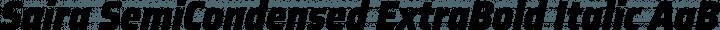 Saira SemiCondensed ExtraBold Italic free font