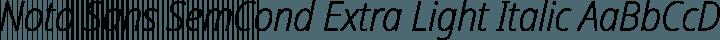 Noto Sans SemCond Extra LightItalic free font