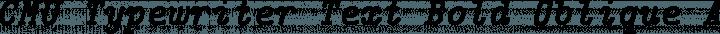 CMU Typewriter Text Bold Oblique free font