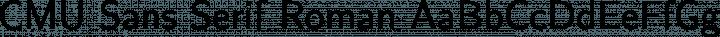 CMU Sans Serif Roman free font