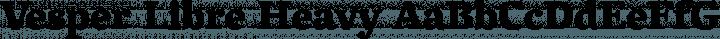 Vesper Libre Heavy free font