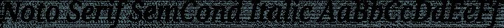 Noto Serif SemCond Italic free font