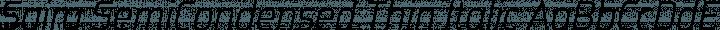 Saira SemiCondensed Thin Italic free font