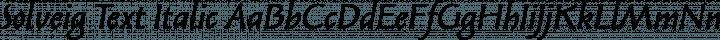 Solveig Text Italic free font