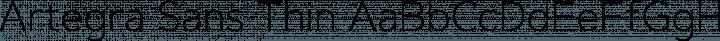 Artegra Sans Thin free font