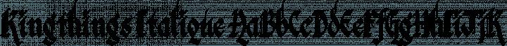 Kingthings Italique font family by Kingthings