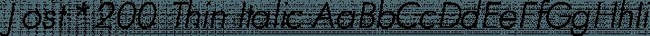 Jost* 200 Thin Italic free font
