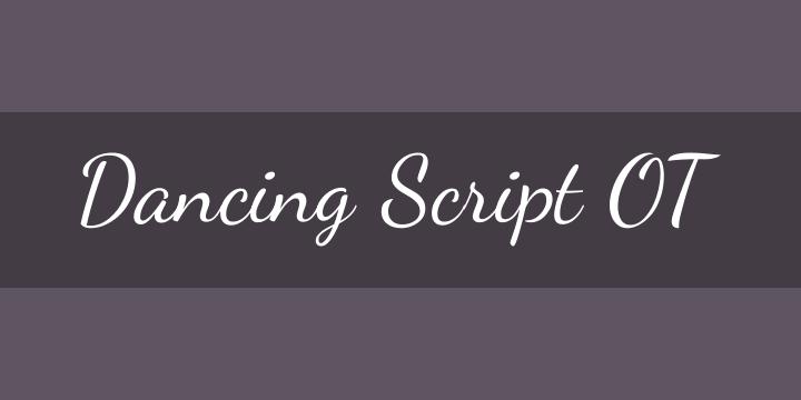 dancing script ot font free download