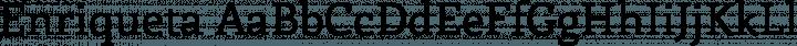 Enriqueta Regular free font