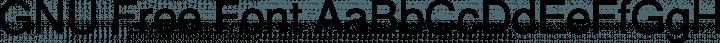 GNU Free Font font family by GNU