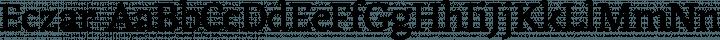 Eczar Regular free font