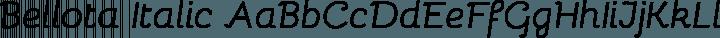 Bellota Italic free font