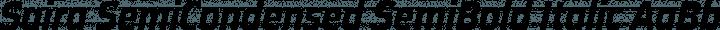 Saira SemiCondensed SemiBold Italic free font