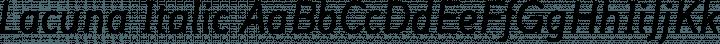Lacuna Italic free font