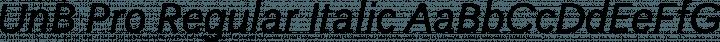 UnB Pro Regular Italic free font
