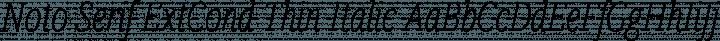 Noto Serif ExtCond Thin Italic free font