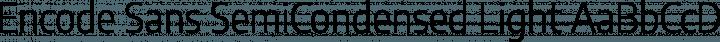 Encode Sans SemiCondensed Light free font