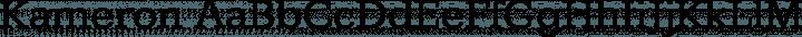 Kameron Regular free font