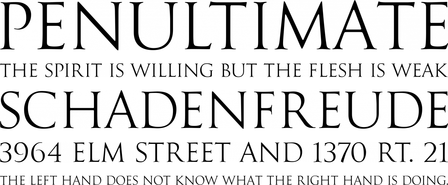 Goudy Trajan Regular Font Free by CastleType » Font Squirrel