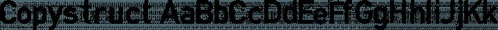 Copystruct font family by Typografski