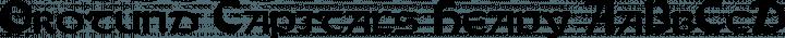 Orotund Capitals Heavy free font