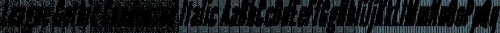 League Gothic Condensed Italic free font