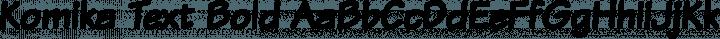 Komika Text Bold free font