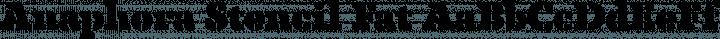 Anaphora Stencil Fat free font